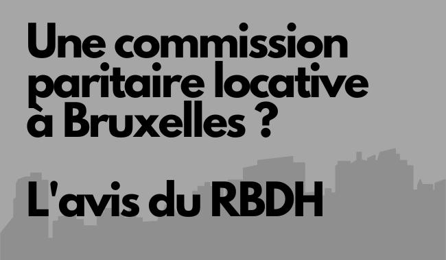 Commission logement au Parlement bruxellois